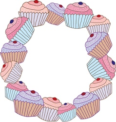 Cake frame vector