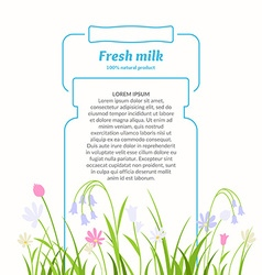 Poster for sale of fresh natural milk and dairy vector