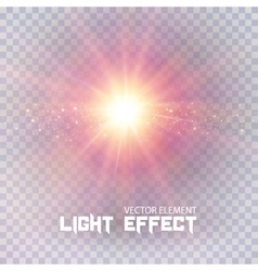 Light effect on transparent vector