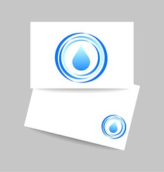 Aqua water drop template vector