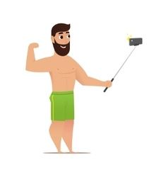 Cartoon selfie shot man vector