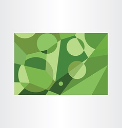 abstract green geometric background element vector image vector image