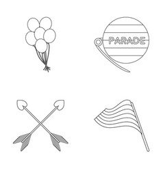 Balls gay parade arrows flag gayset collection vector