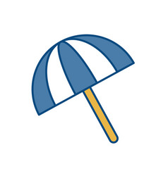 Beach parasol icon vector