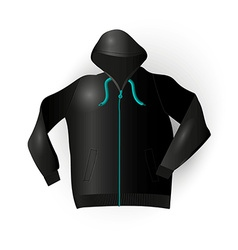 Black sport raincoat vector