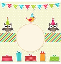 Bright frame with birds vector image vector image