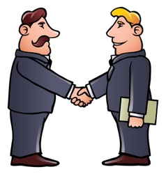 business men shaking hands vector image