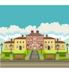Country house with park vector image