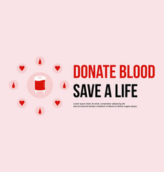 Donate blood save theme background vector