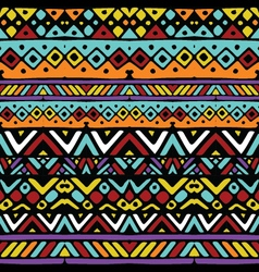 Ethnic mexican tribal colored stripes seamless vector