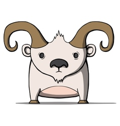 Funny cartoon goat vector image