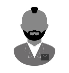 grayscale arrested man icon image vector image vector image