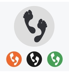Hand drawn footprints icons set vector