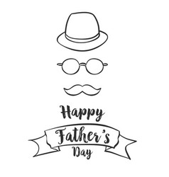 Happy father day hand draw style vector