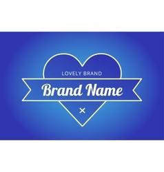 Heart icon logo brand concept vector