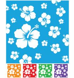 hibiscus pattern vector image vector image
