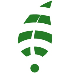 Leaf WiFi vector image