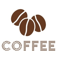 Logo composition with coffee beans vector
