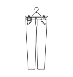 monochrome silhouette of male pants in clothes vector image