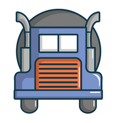 Oil tanker truck icon cartoon style vector