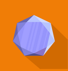 Pentagonal precious stone icon flat style vector