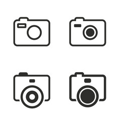 Photo icons set vector