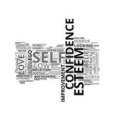 Self-esteem word cloud concept vector