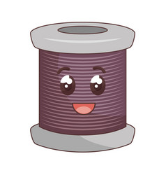 sewing thread roll comic character vector image