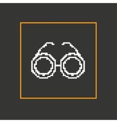 Simple stylish glasses pixel icon design vector image