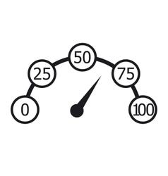 Speedometer black and white infographics vector