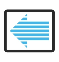 Stripe arrow left framed icon vector