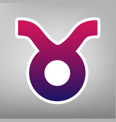 taurus sign purple gradient vector image vector image
