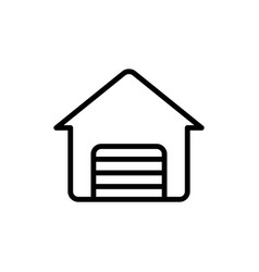 thin line garage icon vector image