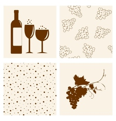 Winery design objects set vector image