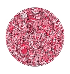 Pink romantic round patterns for meditation design vector