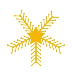 christmas snowflake isolated icon vector image