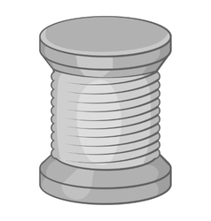 Spool of thread icon black monochrome style vector