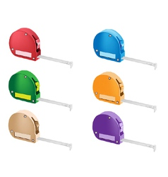 Colorful set of tape measure icons vector