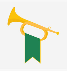 Trumpet with green vector