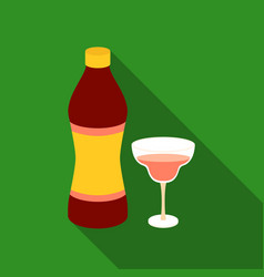 vermouth icon in flat style isolated on white vector image