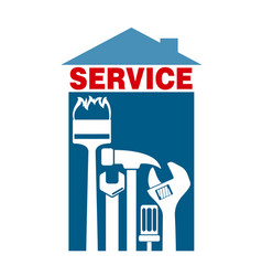Service with tools for home vector
