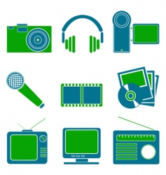 Entertainment symbols vector