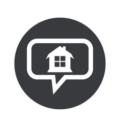 Round dialog house icon vector