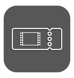 The blank cinema ticket icon vector