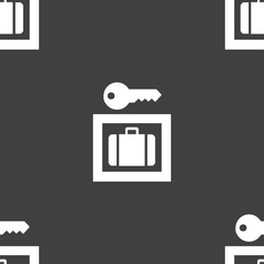 Luggage storage icon sign seamless pattern on a vector