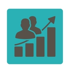Audience growth icon vector