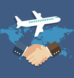 Business meeting international partnership concept vector
