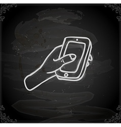 Hand drawn cellphone vector