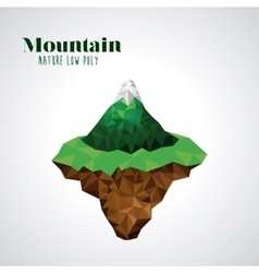 Mountain low poly design vector