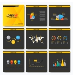 Set of business presentation square template vector